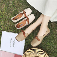 Spring Autumn Shoes Woman Cow Leather Flats Women Slip On Women's Loafers Female Moccasins Shoe Large Size 35 43