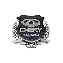 1 Pcs Carbon Fiber Auto Sticker Decals Auto Decoratie Voor Chery E3 Eq X1 QQ3EV 3X E5 A1 V5 Arrizo 3 5 7 A3 Tiggo 3 5 7 E3 A5 Qq