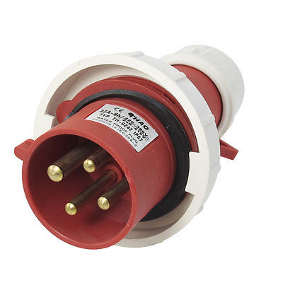 AC 32A Water Proof IP67 3P+E IEC309-2 Industrial Plug Conector Red White