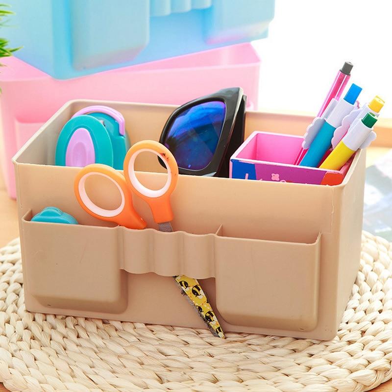 Многофункциональный Пластик коробка для хранения стол организатор стабильный игрушка органайзера коробки Organizador Дом Организации коробка ... ...