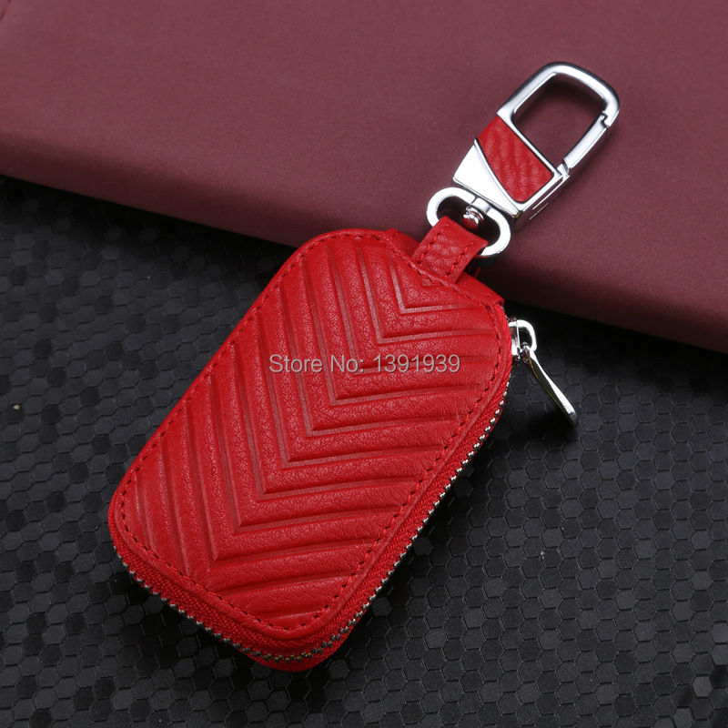 Car key wallet case Genuine Leather for Porsche Panamera Macan 911 718 Cayman Cayenne Boxster free shipping in Key Case for Car from Automobiles Motorcycles