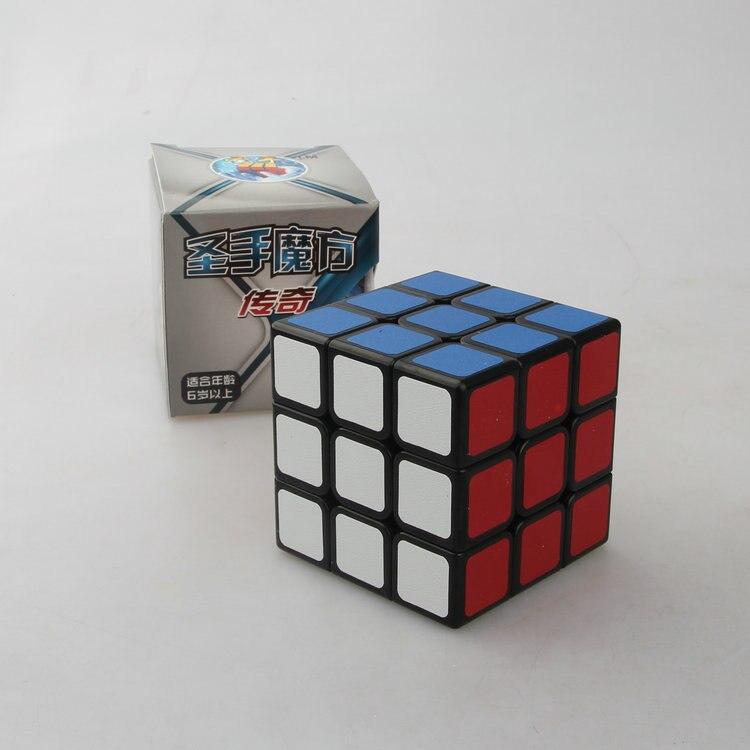Shengshou legend 3x3 cube Белый/Черный кубик Cubo Magico куб скоростной куб обучающий игрушка для детей дропшиппинг - Цвет: Черный