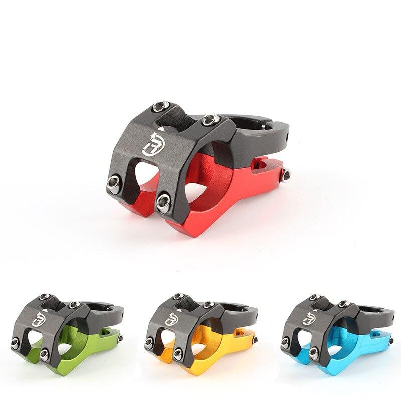 MTB 자전거 줄기 0도 속도 제로 죽은 줄기 핸들 라이저 BMX 자전거 줄기 45mm 라이저 단조 알루미늄