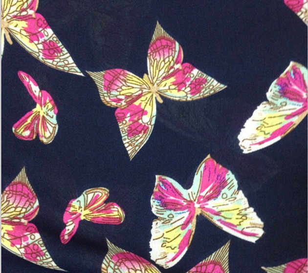 特大のファッション女性シフォンブラウスベスト夏のノースリーブ蝶プリントシャツ Bluas Faminina カジュアル女性 # YL