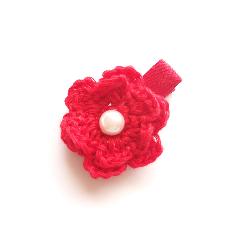 20pcslot adorable crochet flower hair clips back to school gift 20pcslot adorable crochet flower hair clips back to school gift pink flower girl barrette frosted grey floral hairpin red grips in hair accessories from mightylinksfo