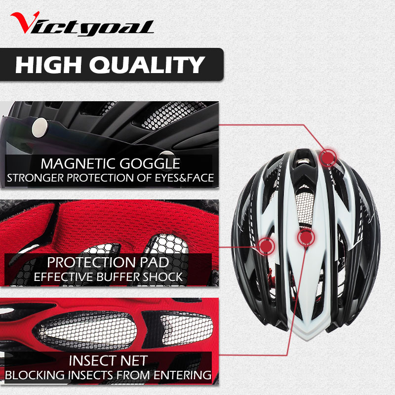 Bike Helmet, LED Backlight, Bicycle, Helmet Men Women Goggles Cycling Helmet Ultralight MTB Road 3