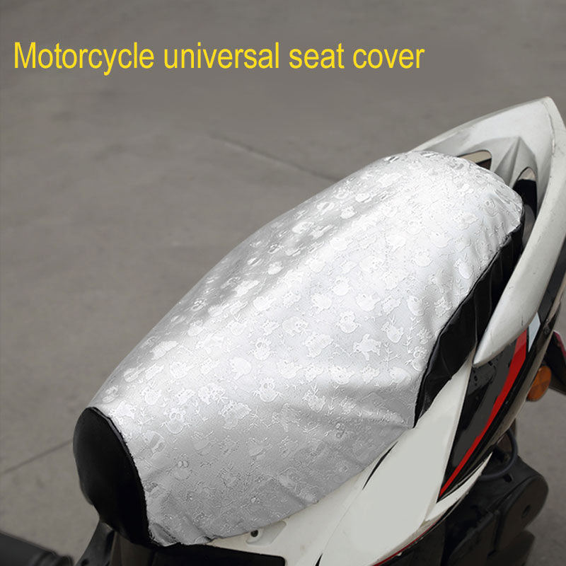 Vehemo PU Leather Motorcycle Seat Cover Pads Sun Protection for Heatproof Durable Anti-Slip Scooter for Ventilation(China)