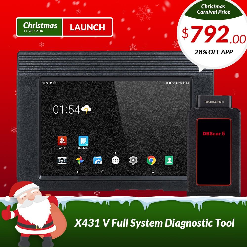 Запуск X431 V 8 версия Bluetooth Wi-Fi Full Системы автомобиля инструмента диагностики с 2 года бесплатного обновления X-431 V Pro мини Авто сканер