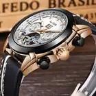 LIGE hommes montres Top marque de luxe automatique mécanique montre en cuir étanche Sport montre hommes Date entreprise horloge Reloj Hombre - 2
