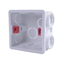 Распределительная коробка для монтажа в стену, 86 внутренних кассет, Монтажная коробка, белая задняя синяя красная коробка для 86 мм* 86 мм Стандартный Настенный Выключатель и розетка