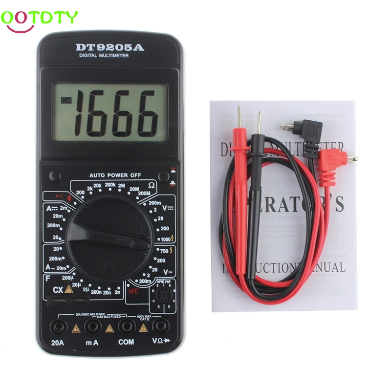 DT9205A Digital Multimeter AC/DC Voltmeter Ammeter Resistance Capacitance Meter  828 Promotion f47n multimeter pointer mechanical capacitance meter ammeter voltmeter pocket