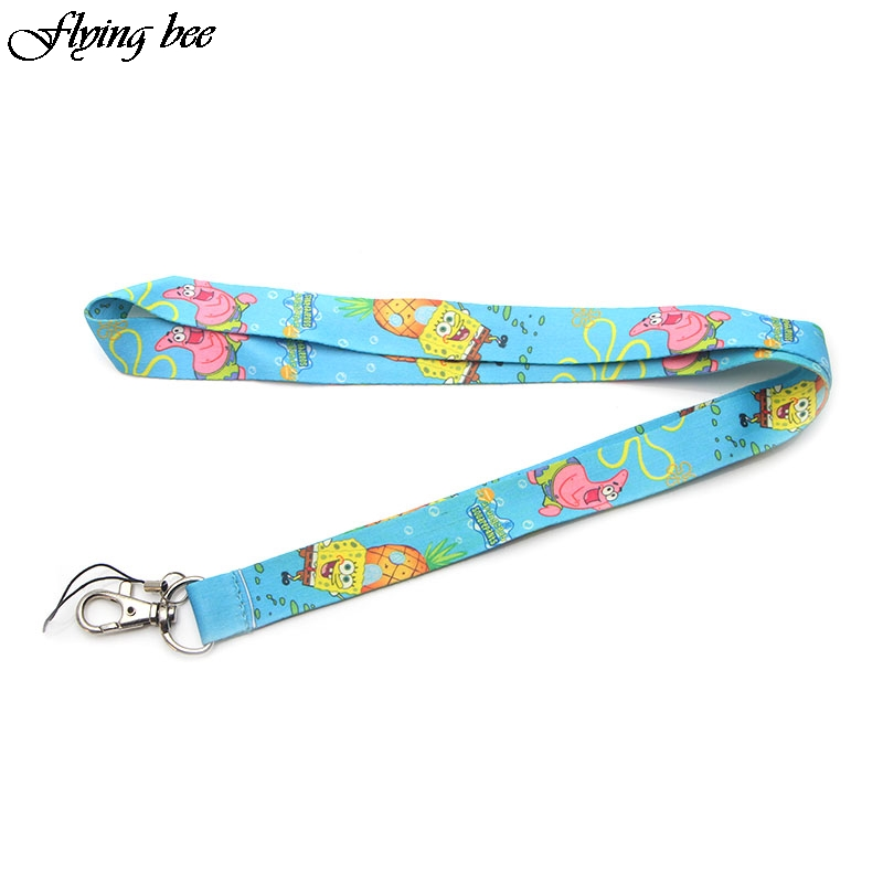 Flyingbee Cartoons Cute Phone Lanyard Funny Lanyards For Keys Phone Rope Keychanis Keyring Neck Straps Phone Accessories X0100