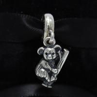 ROCKART 925 Sterling Zilveren Koala Dangle Charm Kralen Past Europese Brand Armbanden Diy Fijne Sieraden Gratis Verzending