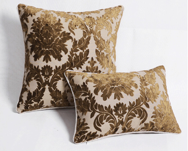 Luxury Fashion Dark Golden Big Back Cushion Sofa Cushion Pillow