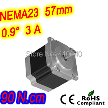 цена на 12 pieces per lot high resolution step motor 23HM22-3006S L 56 mm Nema23 with 1.8 deg 3 A 90 N.cm and unipolar 6 lead wires