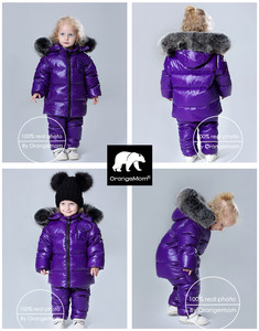 Image 2 - Conjunto de 2 unidades de chaqueta y pantalones para niño, ropa de invierno para niño de 1 a 12 años, prendas de vestir coreanas para niño y niña, prendas de vestir exteriores de piel grande 2019