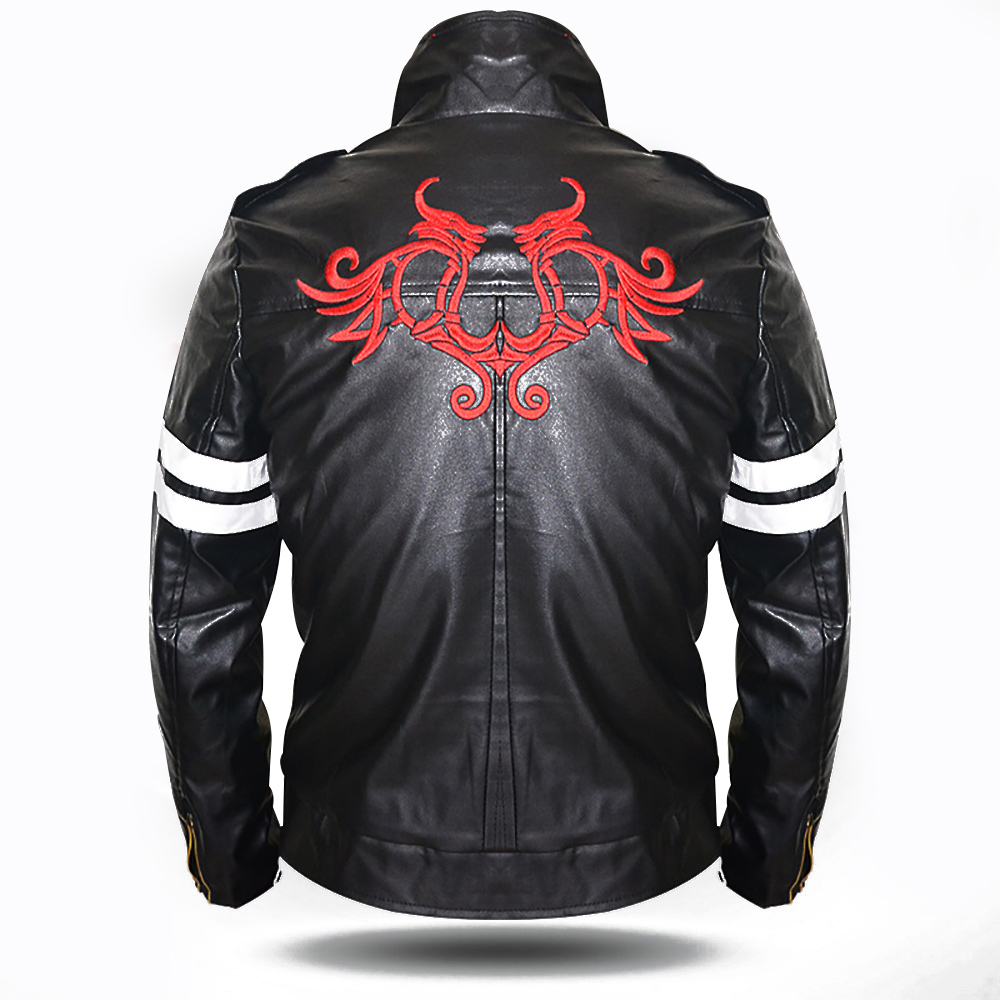 Alex Mercer Jacket Cool font b Men b font Black Faux Leather Jacket font b Hoodie