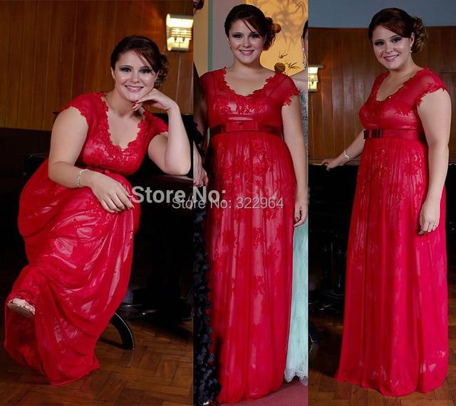 2015 Vestido Amarelo Red Lace Evening Gowns Plus Size Abendkleider ...