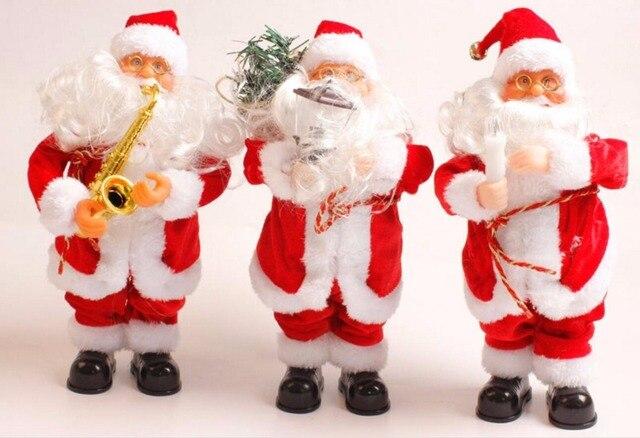 Buon Natale Buon Natale Canzone.Creativo Buon Natale Cosplay Babbo Natale Con La Candela Lampada Sax