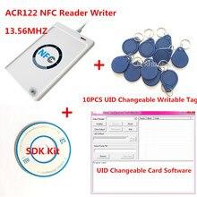 NFC USB ACR122U-A9 RFID Smart Card Reader & Writer+ 10pcs 13.56mhz UID changable zero 0 sector IC Card+ SDK Kit +Free Shipping
