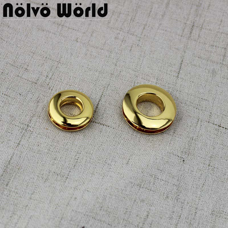 10mm 13mm Flat Covering Deep Gold Round Screw Eyelet For Bag Purse Chain Bet Sewing Bag Accessories