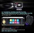 4.1 дюймов 1 Din Автомобильный Радиоприемник Авто Аудио Стерео 1Din USB AUX FM Радио Bluetooth Remote control с Заднего Вида камера