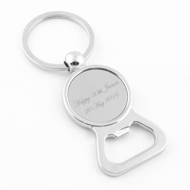 personalised key ring bottle opener custom engraved key chain party