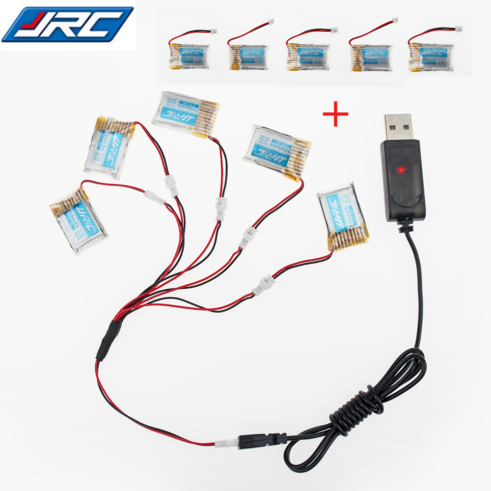 Original 10pcs 3.7V 150mah 30C Lipo Battery For RC JJRC H20 Airplane Helicopter Drone battery + usb charger set