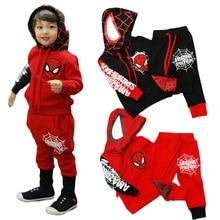 Nouveau 2016 garçons enfants enfants ensembles de vêtements spiderman spider – man 1 set/lote automne printemps vêtements pour enfants