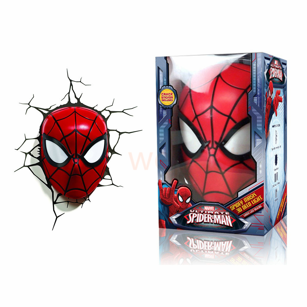 3d poster wall lamp cartoon spiderman action head shaped lights 3d poster wall lamp cartoon spiderman action head shaped lights creative led night light child kids bedroom wall decor lights in led night lights from mozeypictures Gallery