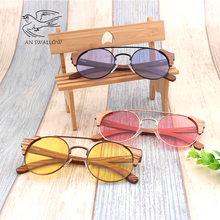 Mens sunglasses latest bamboo and wood fashion  night vision goggles UV400 ultimate protection women