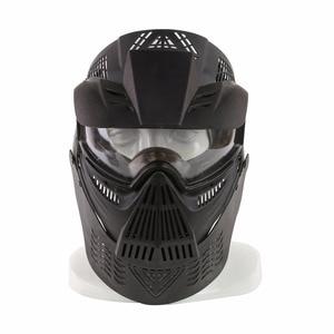 Image 4 - WoSporT צבאי מלא פנים טקטי פיינטבול מסכת Airsoft מסכת עדשה עם משקפי & צוואר להגן עבור חיצוני CS אבזר