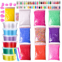 76 Packs DIY Slime Kit , Floam Beads , Glitter Jars, Slime Charms , Fruit Slices , Decorative DIY Art Craft for Home Slime Toy