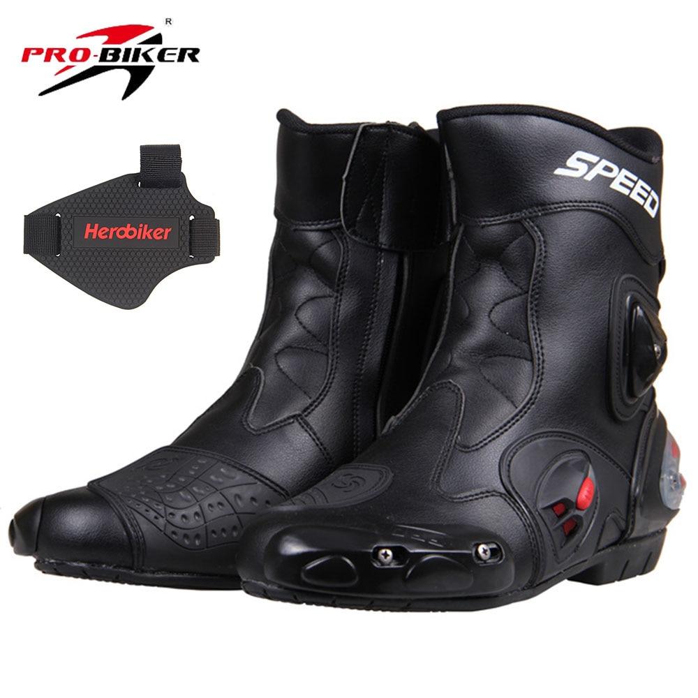 все цены на PRO-BIKER SPEED BIKERS Motorcycle Boots Racing Touring Motocross Off-Road Riding Boots Motorbike Racing Boots Mid-Calf Shoes