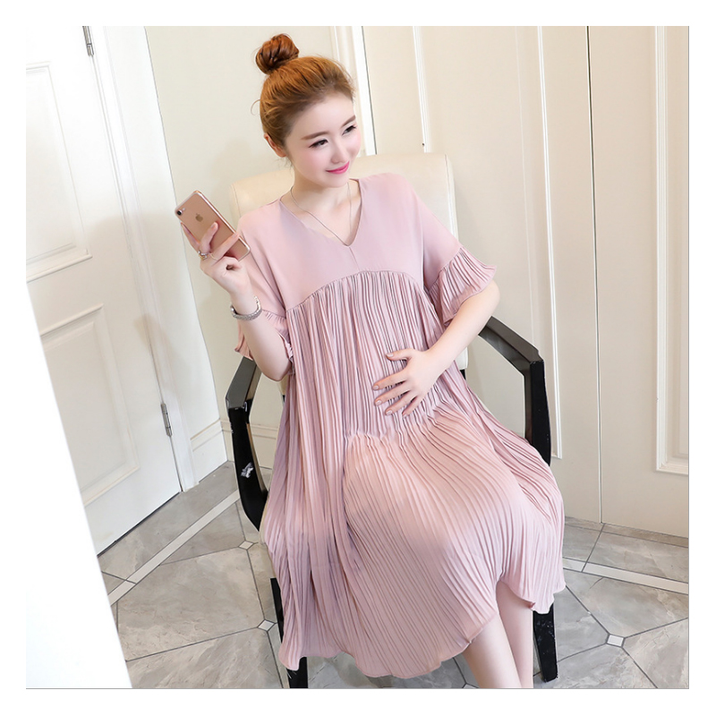 Plus Size Maternity Dresses Clothing Pregnancy Women s Dress Pregnant Dress  For Home Nursing Mother Breastfeeding Dress Elegant-in Dresses from Mother  ... d65bade22092
