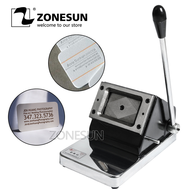 Zonesun Cutting Business Card Paper Driving Card And Other Pvc Pet