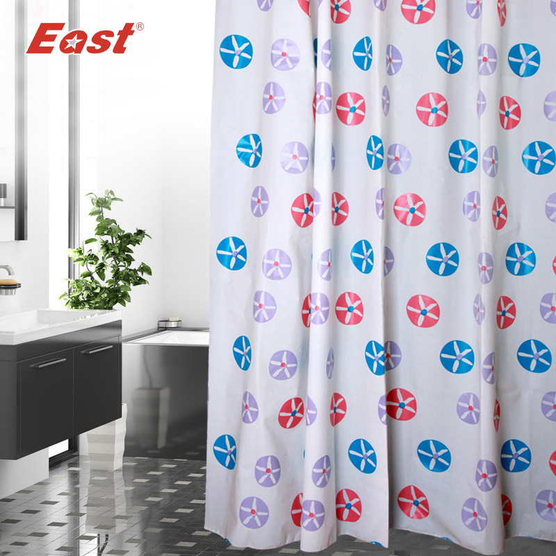 Aliexpress.com : Buy East Shower Curtains Bathroom Products European  Colorful Waterproof Mouldproof For Bathroom With 12 Plastic Hooks From  Reliable Curtain ...