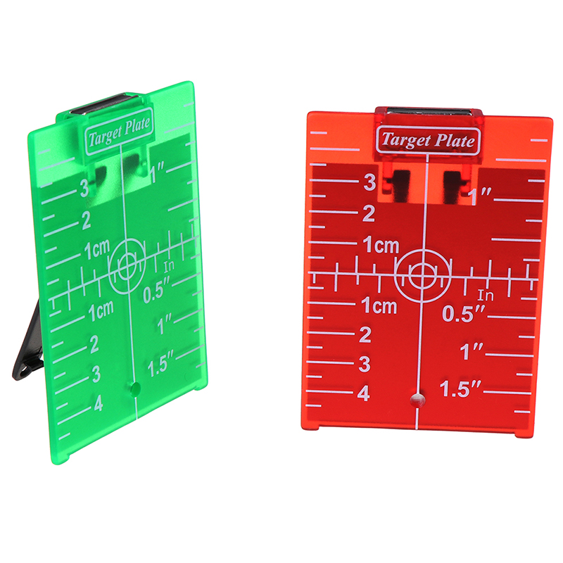 1PCS Inch/cm Laser Target Card Plate For Green/Red Laser Level 11.5cmx7.4cm Suitable For Line Lasers