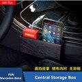 Caja de Almacenamiento de Red A Prueba de Fugas de Bolsillo de cuero Apoyabrazos Guante Fit For Mercedes Benz W205 Nueva CLASE C GLC C180LC200L GLC200 GLC300