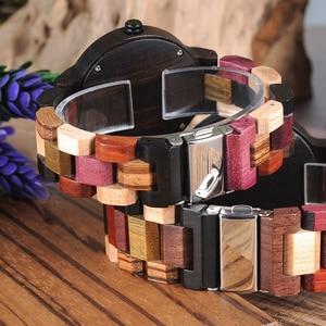 Image 5 - BOBO BIRD Couple Wooden Watches Men Women Quartz Lovers Wrist watch Ladies Elk Deer Quartz Wrist Watch gift erkek kol saati