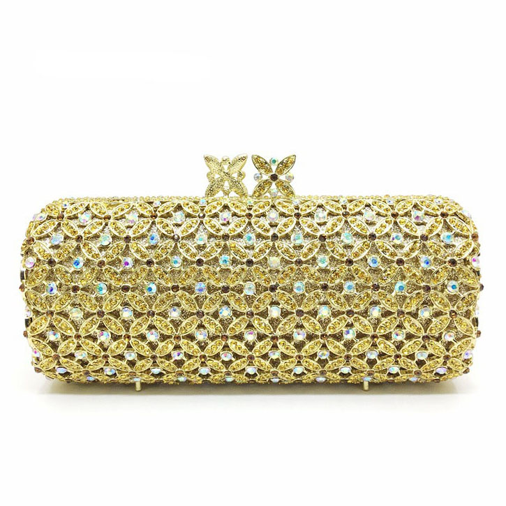 ФОТО New Top Grade Color Rhinestone Evening Clutch Bag Hard Style Makeup Bag Women Messenger Bag Handbag Clutch Bag