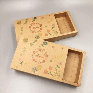 Image 4 - 새로운 핫 크래프트 종이 골판지 서랍 일치 포장 상자 웨딩 파티 사탕 상자 사랑 크리스마스 수제 선물 상자
