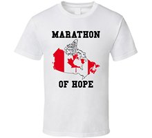 2016 fashion canada T-Shirt Bandit Terry Fox Marathoner of Hope cotton O-Neck T Shirt(China)