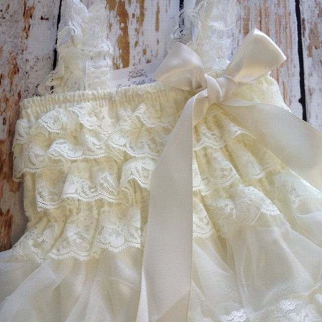 White N Cream Party wear for Baby Girls | Spring 2018 Collection