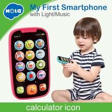 HOLA 3127 детские игрушки учеба музыкальный звук сотовый телефон песни животные звуки забавная игрушка мобильный телефон детские развивающие игрушки
