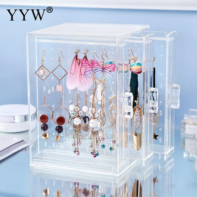Transparent Crystal Jewelry Earring Display Earrings Hanger Nail Art Display Stand Showing Shelf Necklace Bracelet Rack
