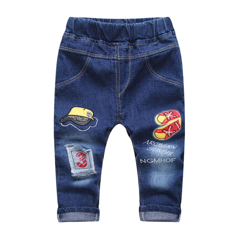 New Patch Boys Jeans Pants Spring Autumn Print Kids Jeans Trousers 2017 Baby Jeans With Embroidery Ripped Denim Trousers Baby (10)