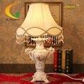 Serie de lujo de estilo Europeo retro hogar creativo tela salón lámpara de mesa de cerámica