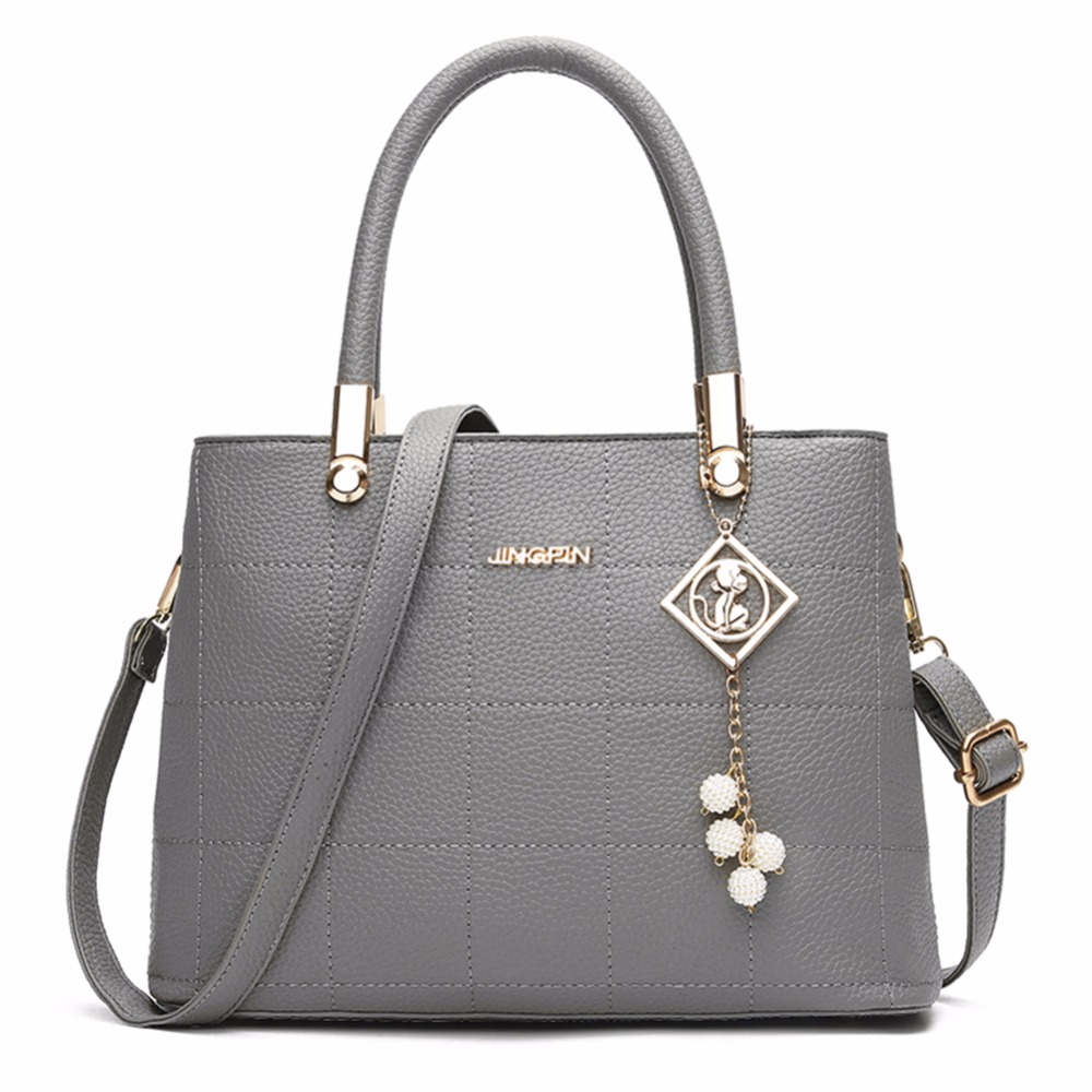 Large Handbags Fashion PU Leather Woman Shoulder Bag 2017Women Bag Casual Tassel Tote Bags Sac A Main Femme Bolsa Feminina Couro