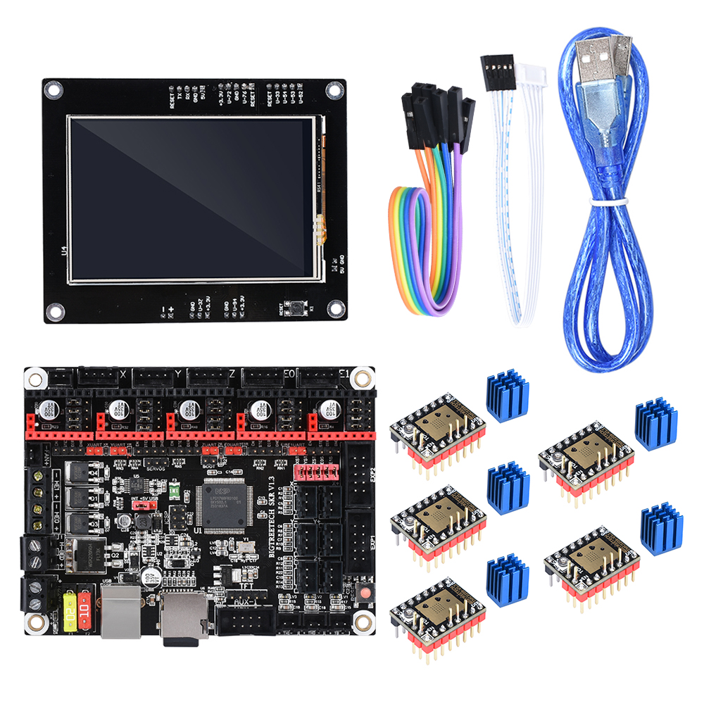 BIGTREETECH SKR V1 3 32 Bit 3D Printer Controller Board With TFT35 Touch Screen TMC2209 UART